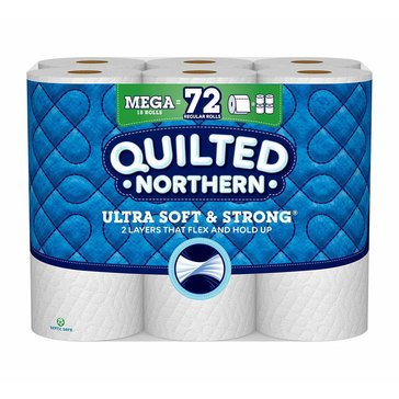 Quilted Northern Ultra Soft & Strong Bath Tissue, 18 Mega Rolls