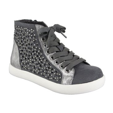 Mia Playground Girls Hi Top Sneaker  Gray Nova