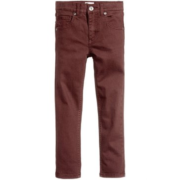 Epic Threads Boys' Twill Pants, Burgundy