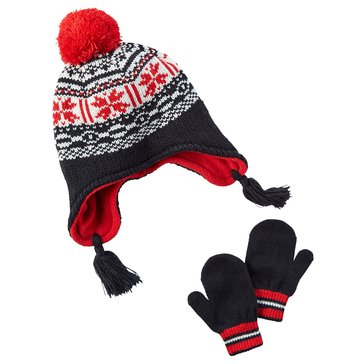 Carter's Baby Boys' Fair Isle Hat and Mitten Set