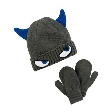Carter's Baby Boys' Monster Hat and Mitten Set