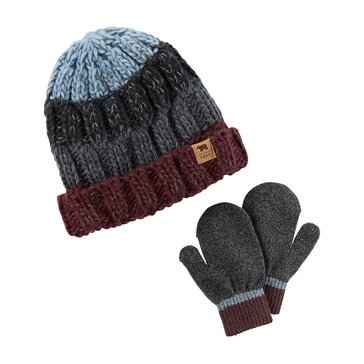 Carter's Baby Boys' Stripe Hat and Mitten Set
