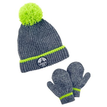 Carter's Baby Boys' Marled Hat and Mitten Set