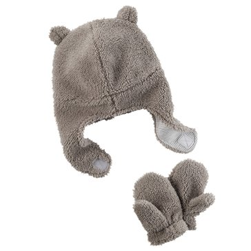 Carter's Baby Boys' Valboa Hat and Mitten Set