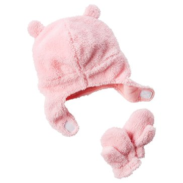 Carter's Baby Girls' Valboa Hat and Mitten Set