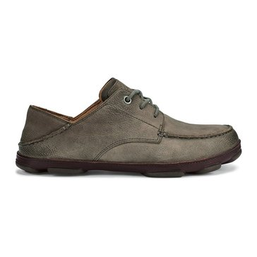 OluKai Hamakua Poko Men's Casual Lace Up Shoe Storm Grey