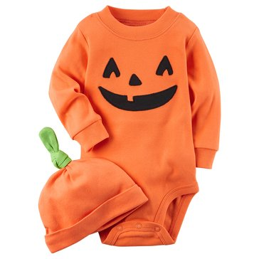Carter's Newborn Halloween Pumpkin Bodysuit and Hat