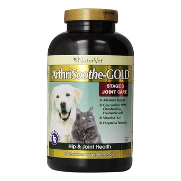 NaturVet Advanced Formula ArthriSoothe-Gold Dog & Cat Tablets, 90-Count