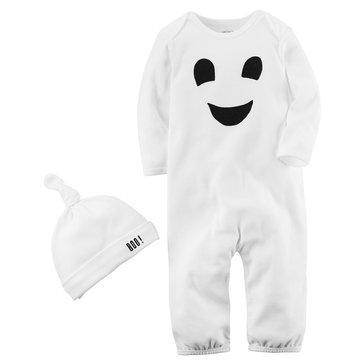 Carter's Newborn Halloween Ghost Coverall and Hat Set