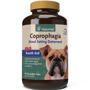 NaturVet Coprophagia Deterrent Plus Breath Aid Time Released Tablets, 60-Count