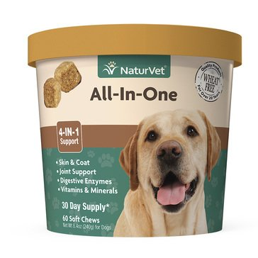 NaturVet All-In-One Dog Soft Chews, 60-Count