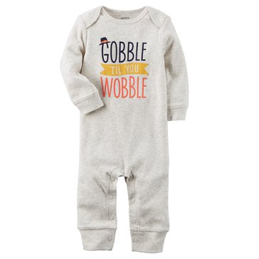 Carter's Newborn Gobble Wobble Thanksgiving Coveralls