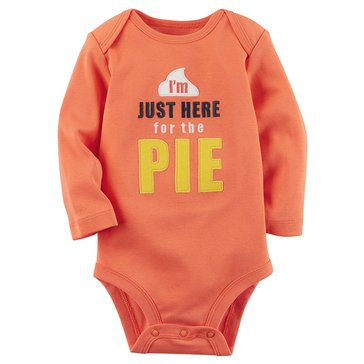 Carter's Newborn I'm Just Here For The Pie Thanksgiving Bodysuit