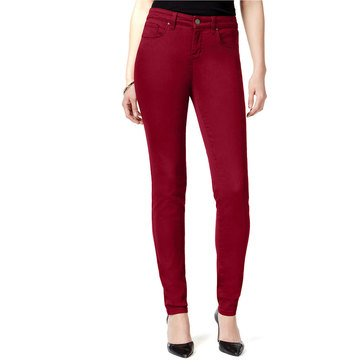 Style & Co Denim Curvy Skinny Pant in Scarlet Wine