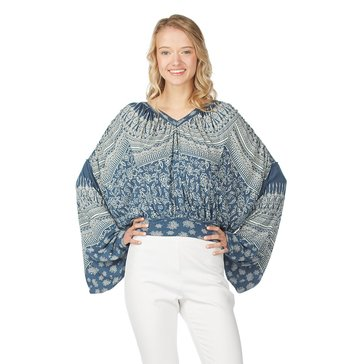 Free People Weekend Warrior Print Knit - Blue