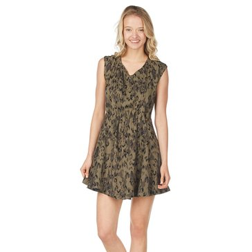 Free People Fake Love Ditsy Print Mini Dress - Green Combo
