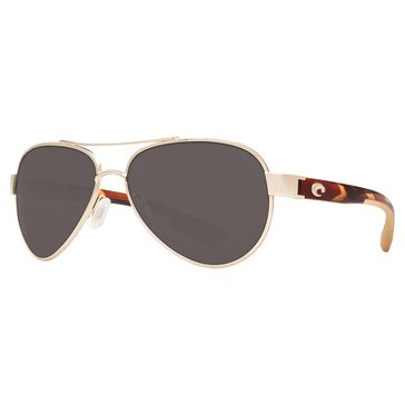 Costa Del Mar Unisex Loreto Polarized Sunglasses, Rose Gold 56.5mm