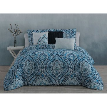 Steve Madden Vera Blue 6-Piece Comforter Set - King