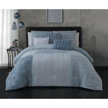 Steve Madden Talia Blue 6-Piece Comforter Set - King