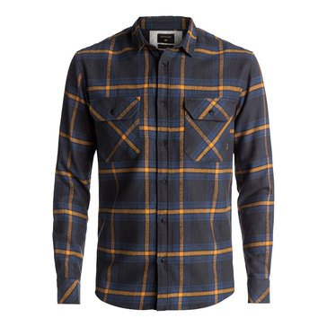 Quiksilver Men's Fitz Forktail Tarmac Long Sleeve Woven Flannel Shirt