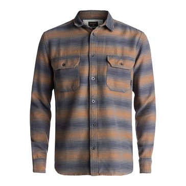 Quiksilver Men's Golden Oak Dusky Town Heavy Long Sleeve Flannel Shirt