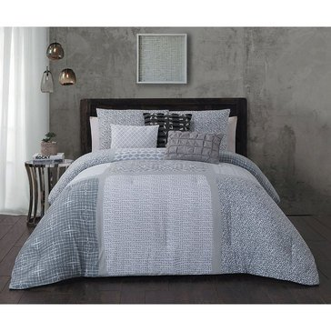 Steve Madden Talia Grey 6-Piece Comforter Set - King