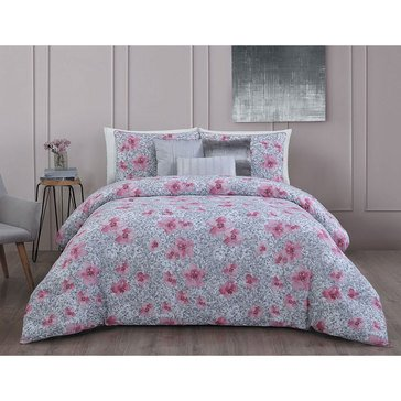 Steve Madden Ellie Pink 6-Piece Comforter Set - King