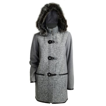 Kensie Women's Toggle Novelty Wool Coat