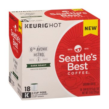 Seattle's Best Post Alley K-Cup Pods, 18-Count
