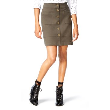 Maison Jules Military Skirt in Urban Olive