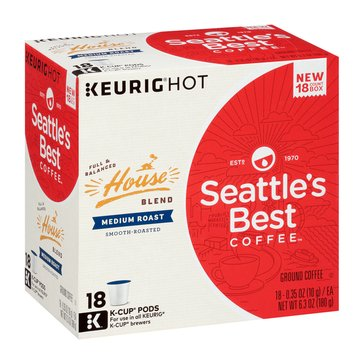 Starbucks Seattle's Best House Blend K-Cup Pods, 18-Count