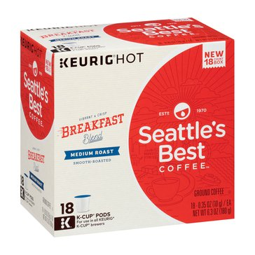 Seattle's Best Breakfast Blend K-Cup Pods, 18-Count
