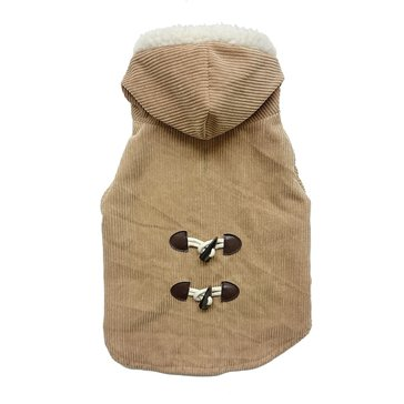Ethical Pet Corduroy Toggle Coat, Camel, X-Small