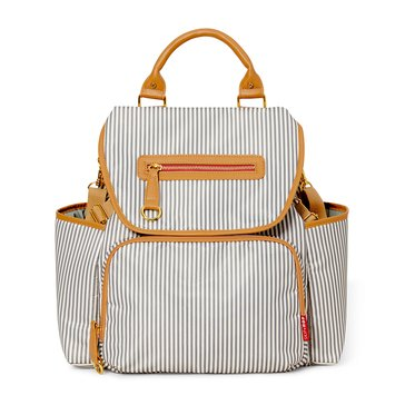 Skip Hop Grand Central Backpack Diaper Bag, French Stripe