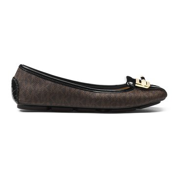 Michael Kors Gloria Moc Women's Slip On Shoe Mk Logo Brown