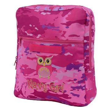 Flying Circle Type III Girl Navy Owl Backpack - Medium / Pink