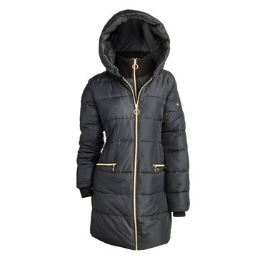 Kensie Women's Signature Faux Down Puffer