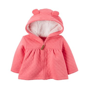 Carter's Baby Girls' Quilted Jacket, Pink