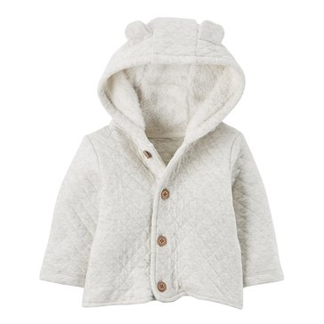 Carter's Newborn Quilted Jacket, Oatmeal
