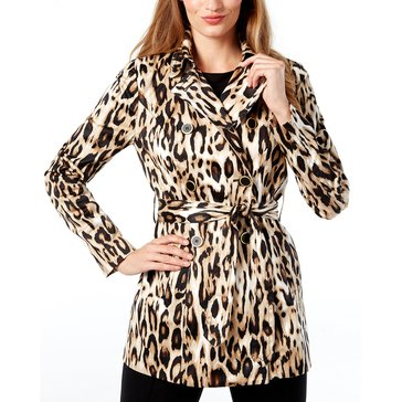 INC International Concepts Leopard Print Trench Coat in Madame Leopard
