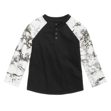 Epic Threads Boys' Marble Tee, Deep Black