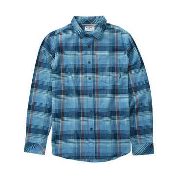 Billabong Men's Coastline Long Sleeve Plaid Flannel Shirt