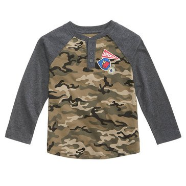 Epic Threads Boys' Patch Camo Tee, Charcoal Heather