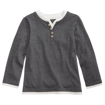Epic Threads Boys' Maki Henley, Charcoal Heather