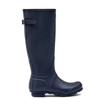 Hunter Boot Women's Original Back Adjust Tall Matte Rainboot Navy