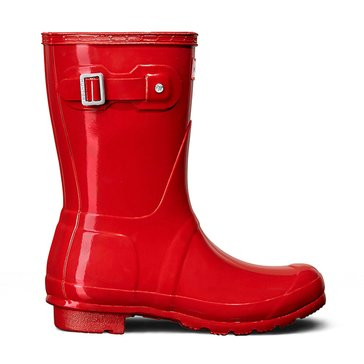 Hunter Boot Women's Original Short Gloss Rainboot Red