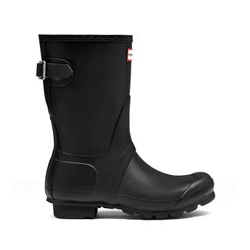 Hunter Boot Women's Original Back Adjust Short Matte Rainboot Black