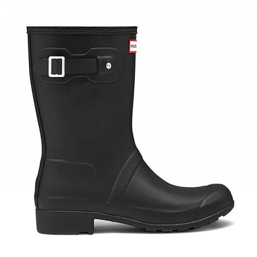 Hunter Boot Women's Original Tour Short Matte Rainboot Black