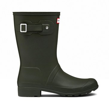 Hunter Boot Women's Original Tour Short Matte Rainboot Dark Green