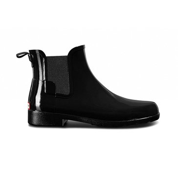 Hunter Boot Women's Original Refined Chelsea Gloss Rainboot Black